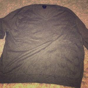 Men's XL JCrew Gray Merino Wool Sweater